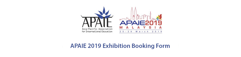 APAIE 2019 - Exhibition Booking Form
